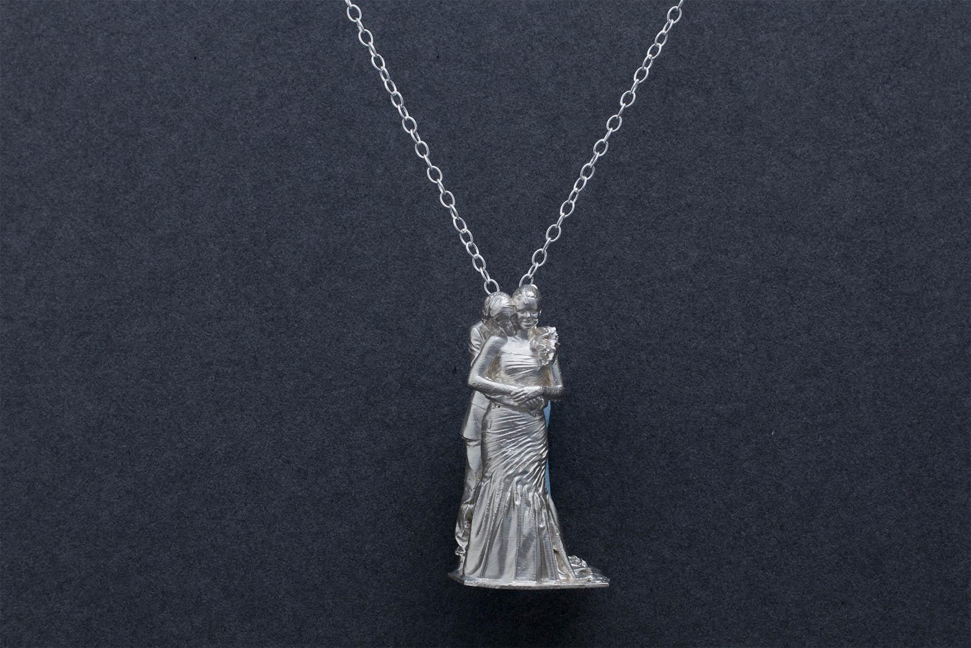 duo silver pendant