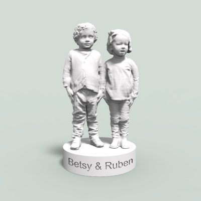 two children white 3dprint