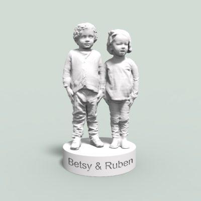 two children white 3dprint